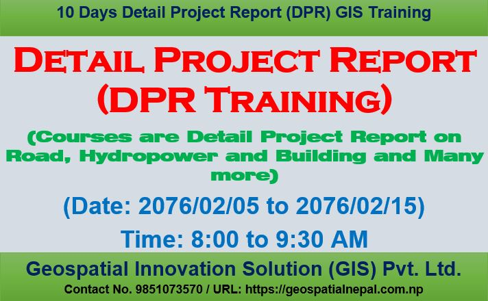 Detail Project Report (DPR) Training